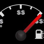 מד דלק עם סימן של דולר