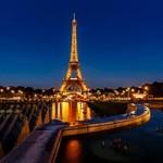 מגדל אייפל עם תאורה בלילות צרפת